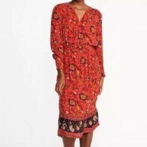 Old Navy Boho Floral Midi Dress